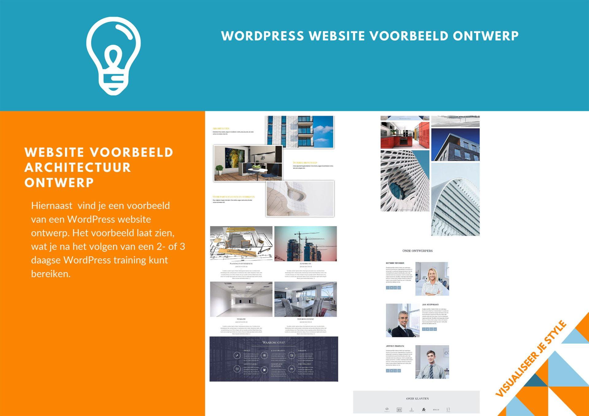 2 daagse Training WordPress Brochure