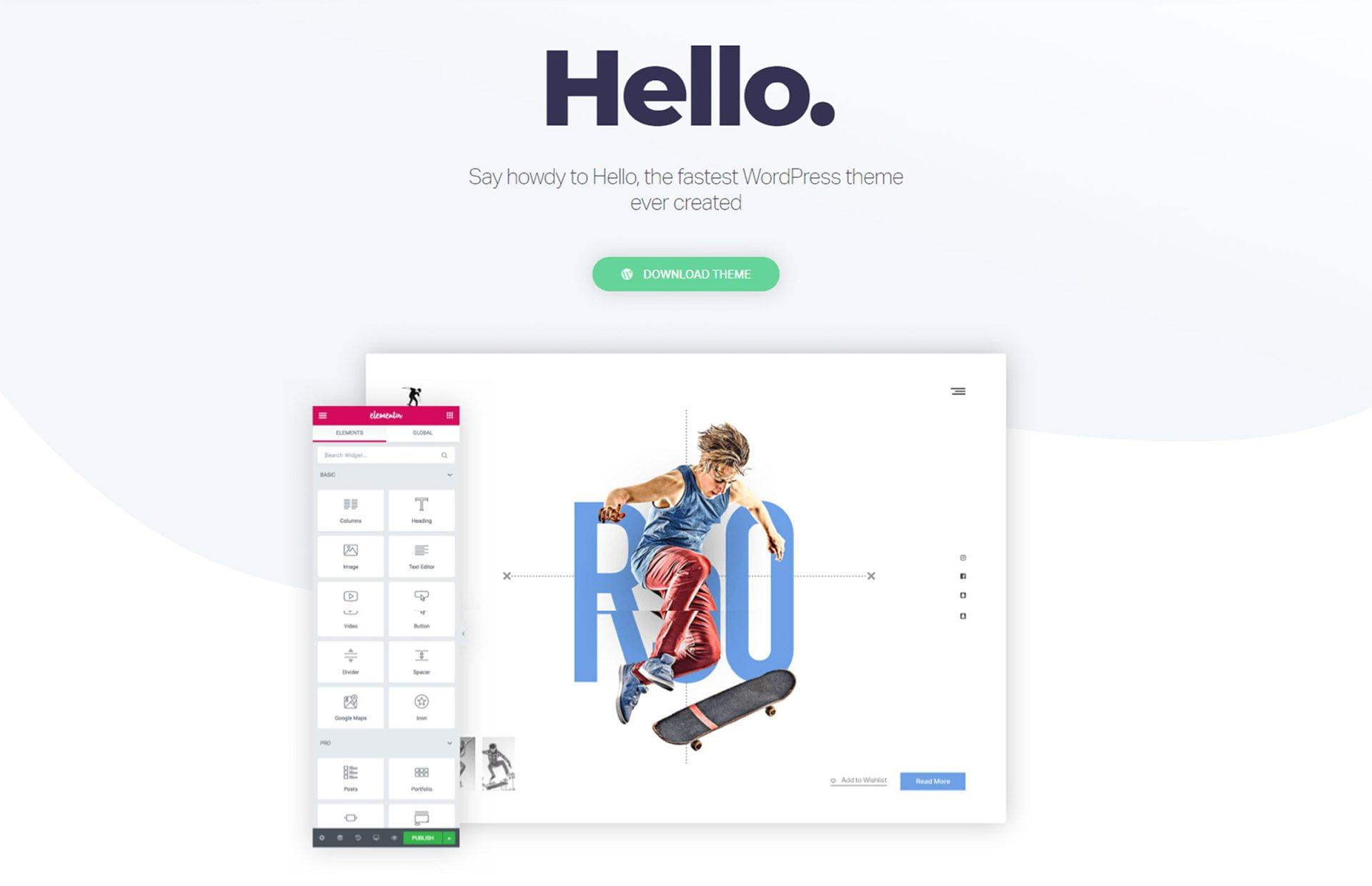WordPress Thema Hello Elementor