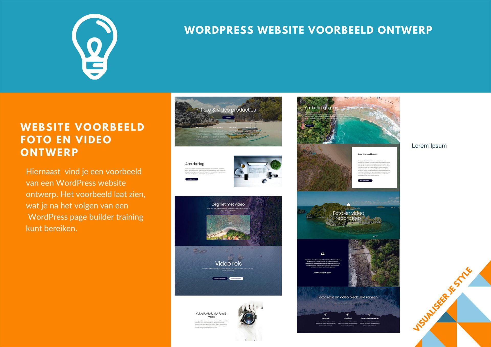 Page Builder Training WordPress Brochure