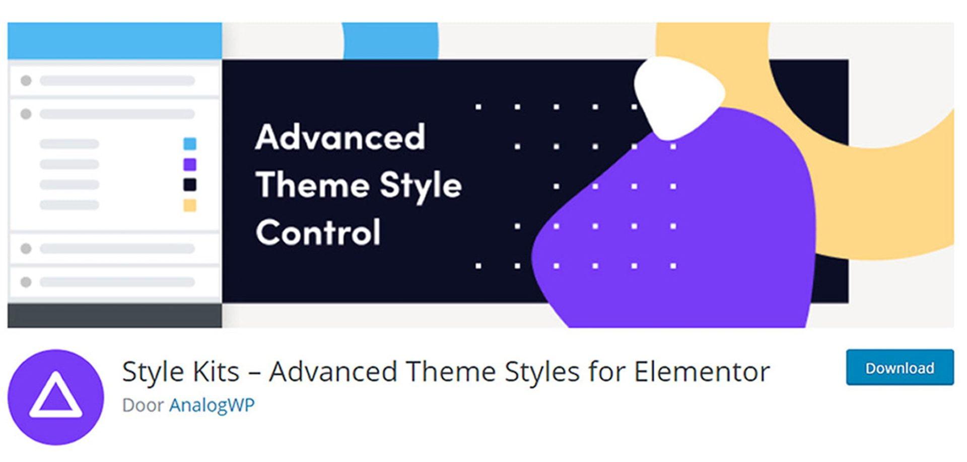 Style kits for Elementor plugin (optie om WordPress thema kiezen overbodig te maken)