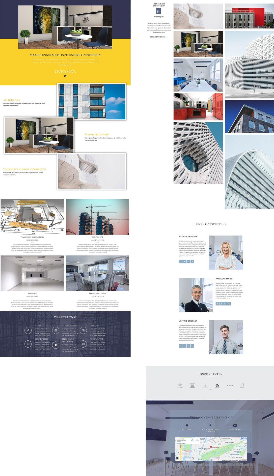 website voorbeeld architectuur ontwerp