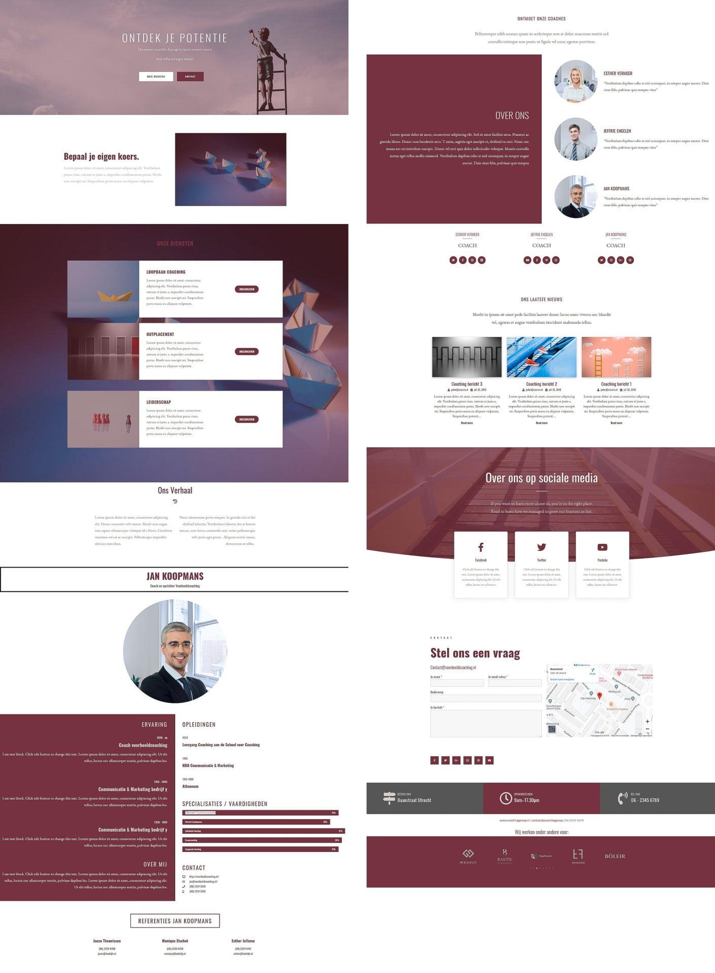 website voorbeeld coaching ontwerp