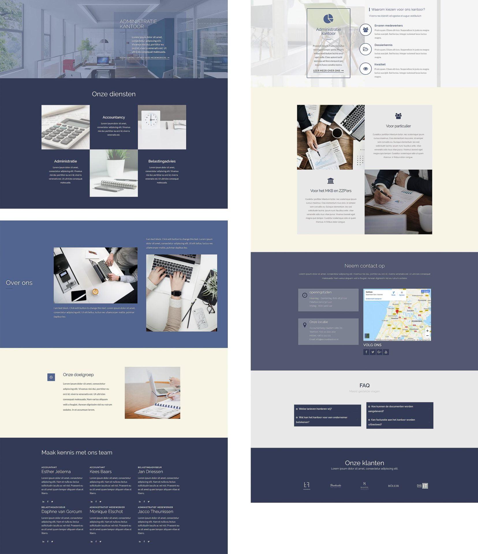 website voorbeeld zakelijk ontwerp