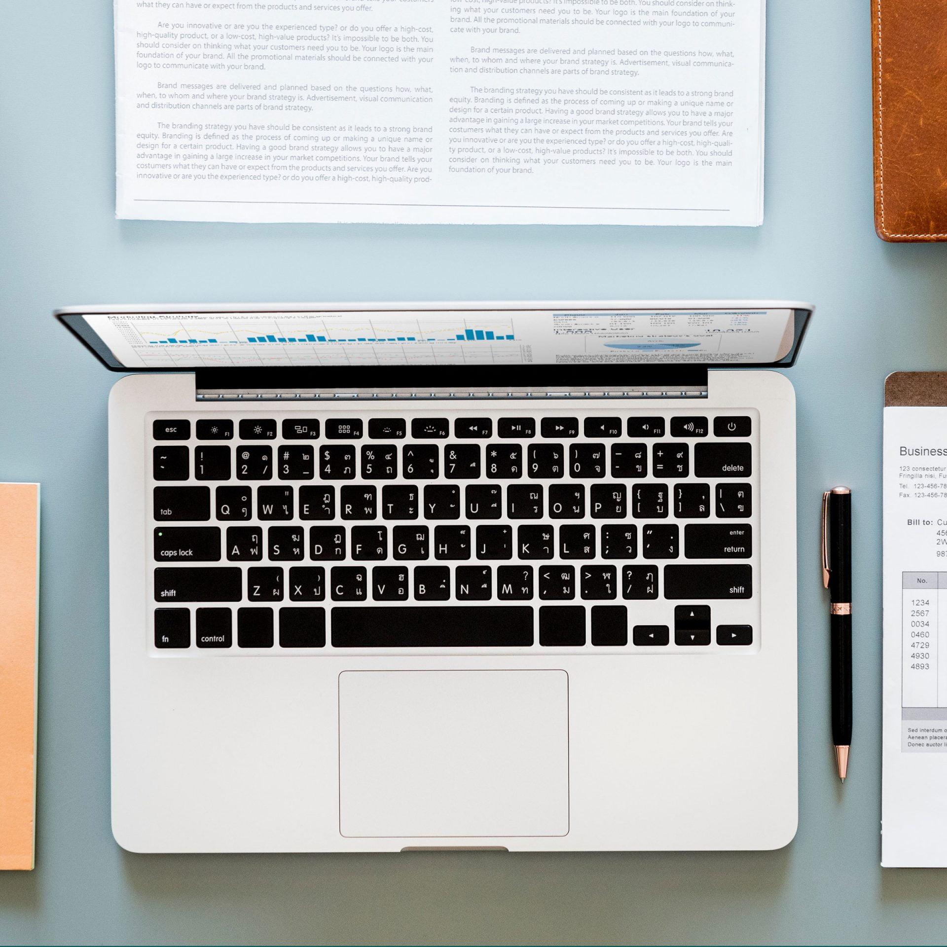 Cursus WordPress gevorderden: laptop met notities