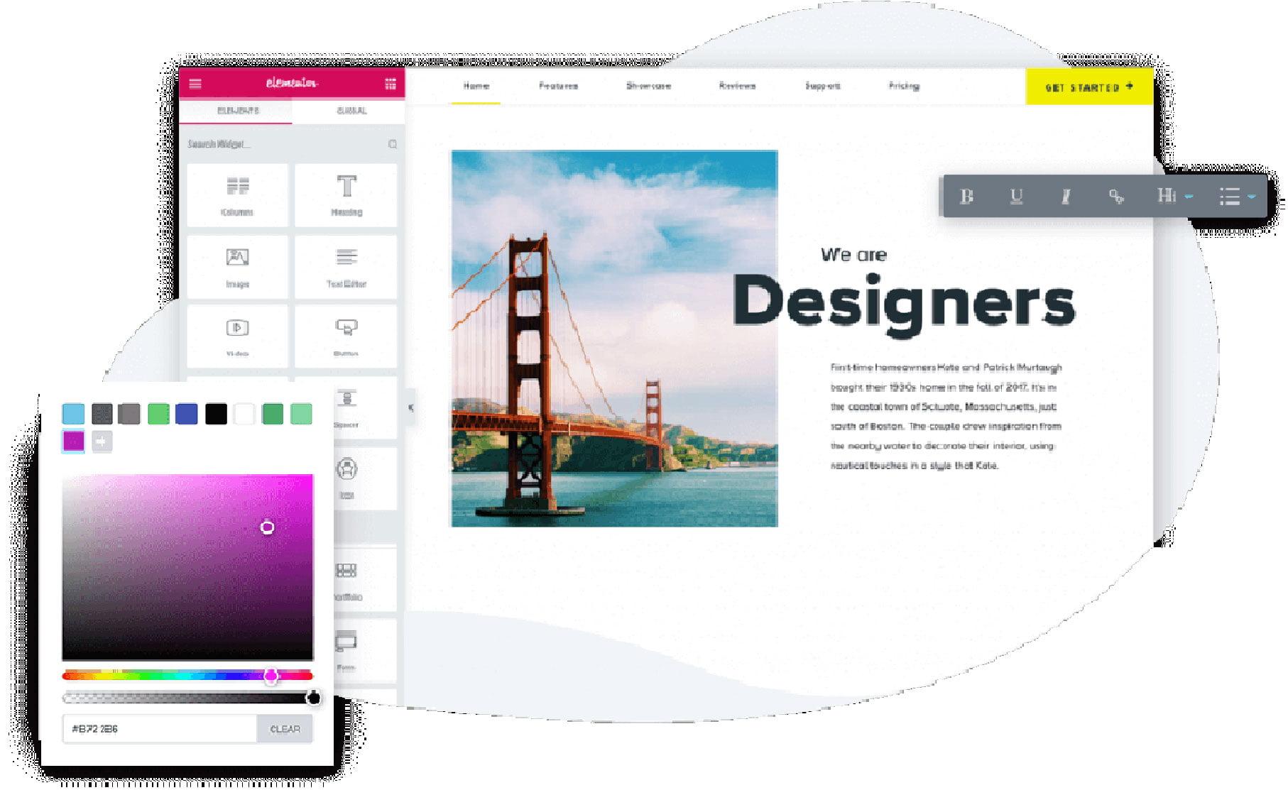 Page builder plugin: Elementor