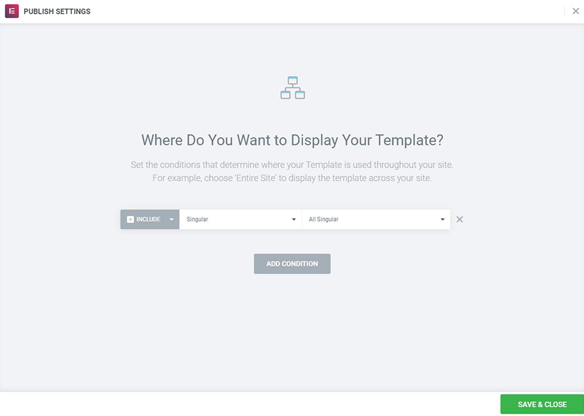 Voorwaarden template Elementor